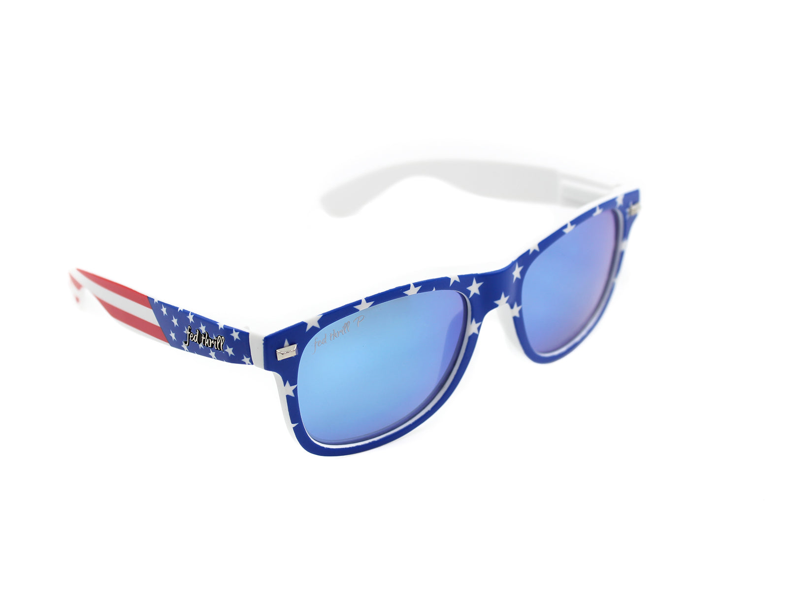 Americans - USA Flag/ Mirrored Sky Blue Polarized