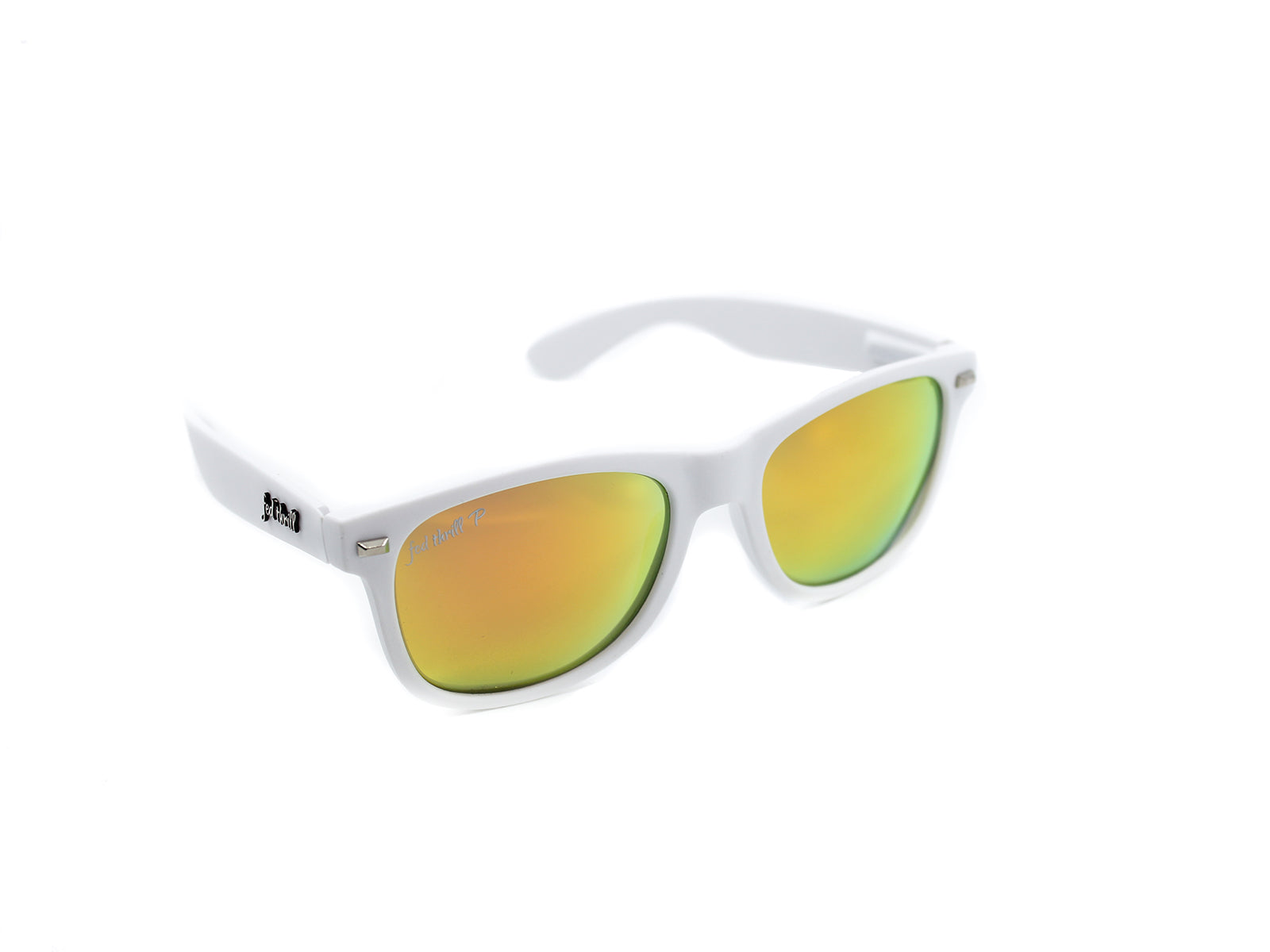 Fultons - Ice & Fires: White / Mirrored Orange Polarized