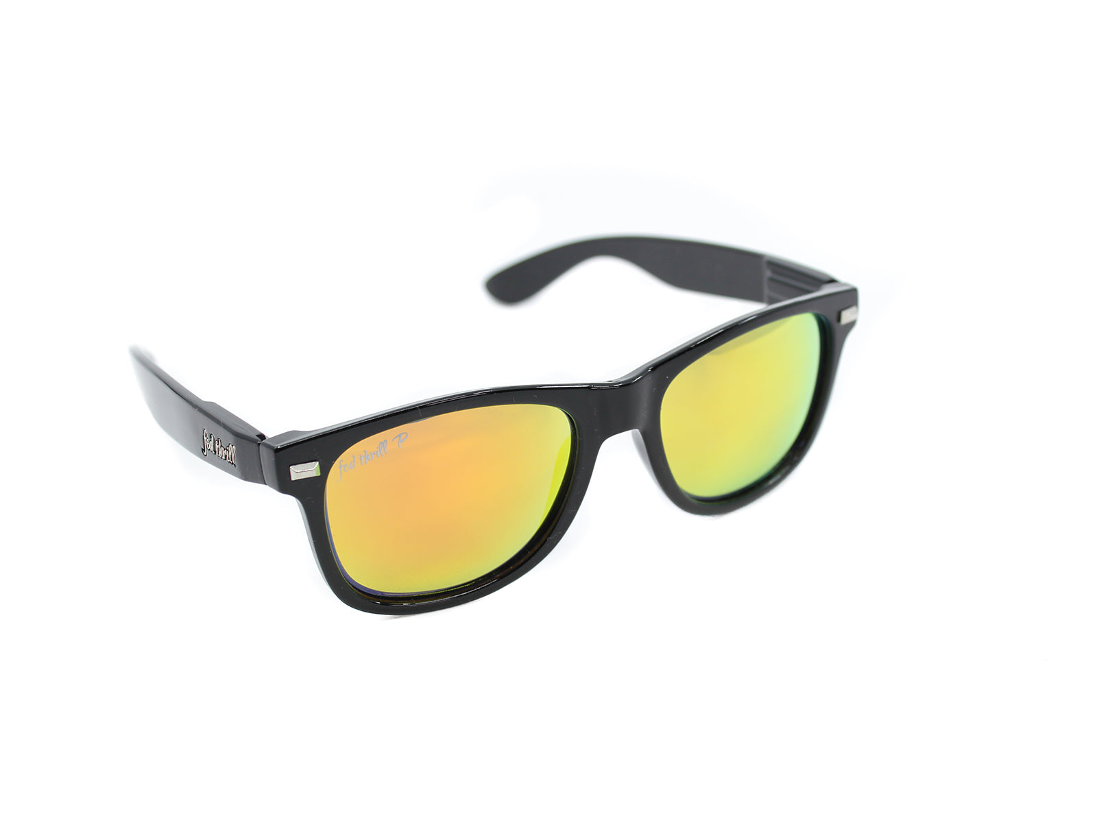 Fultons - Towsons: Glossy Black / Mirrored Orange Polarized