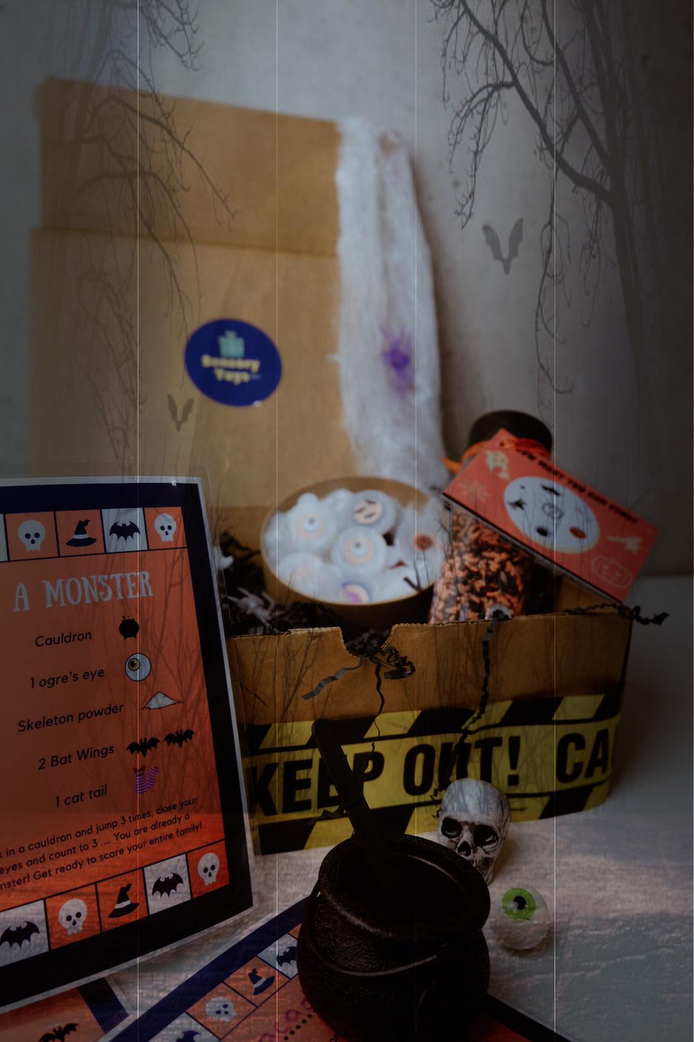 The Sorcerer's Box - Halloween Gift - Sensory Box + Spy Bottle!