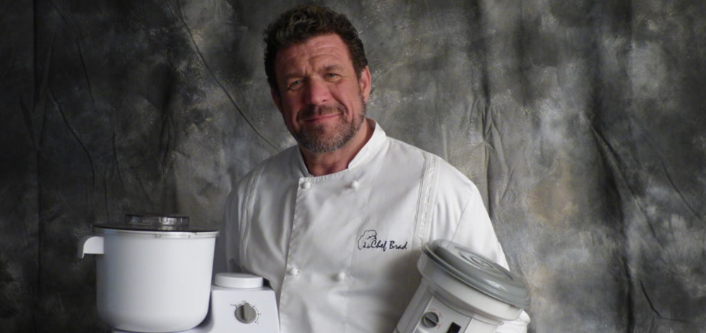 Chef Brad Peterson is America's Grain Guy with a Authentic Pizza Oven Maximus Prime Arena Wood-Fired Pizza Oven