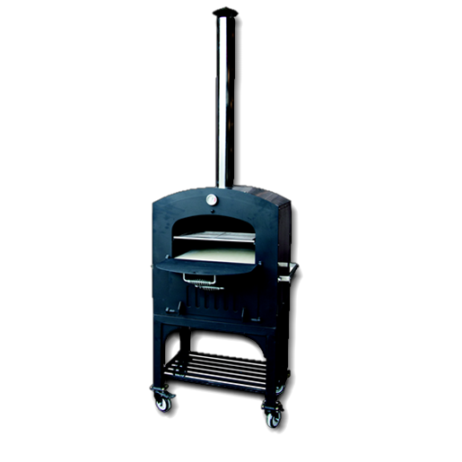 Tuscan Chef GX-C2 Wood-Fired Pizza Oven on mobile cart