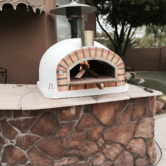 Authentic Pizza Oven Pizzaioli oven on an already existing outdoor counter