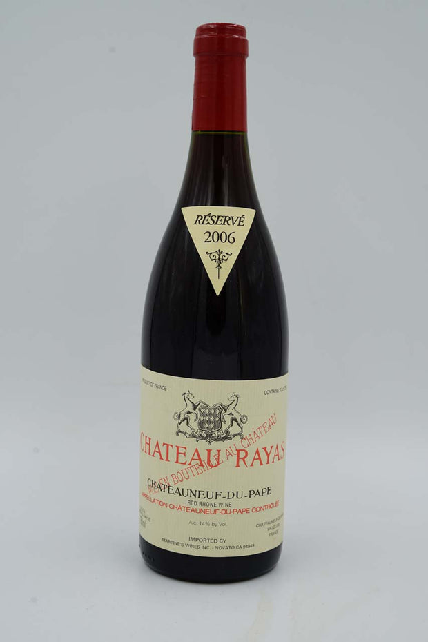 Chateau Rayas, Chateauneuf-du-Pape Reserve, Rhone 2006