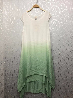 Ombre/tie-Dye Gradient Cotton Casual Dresses