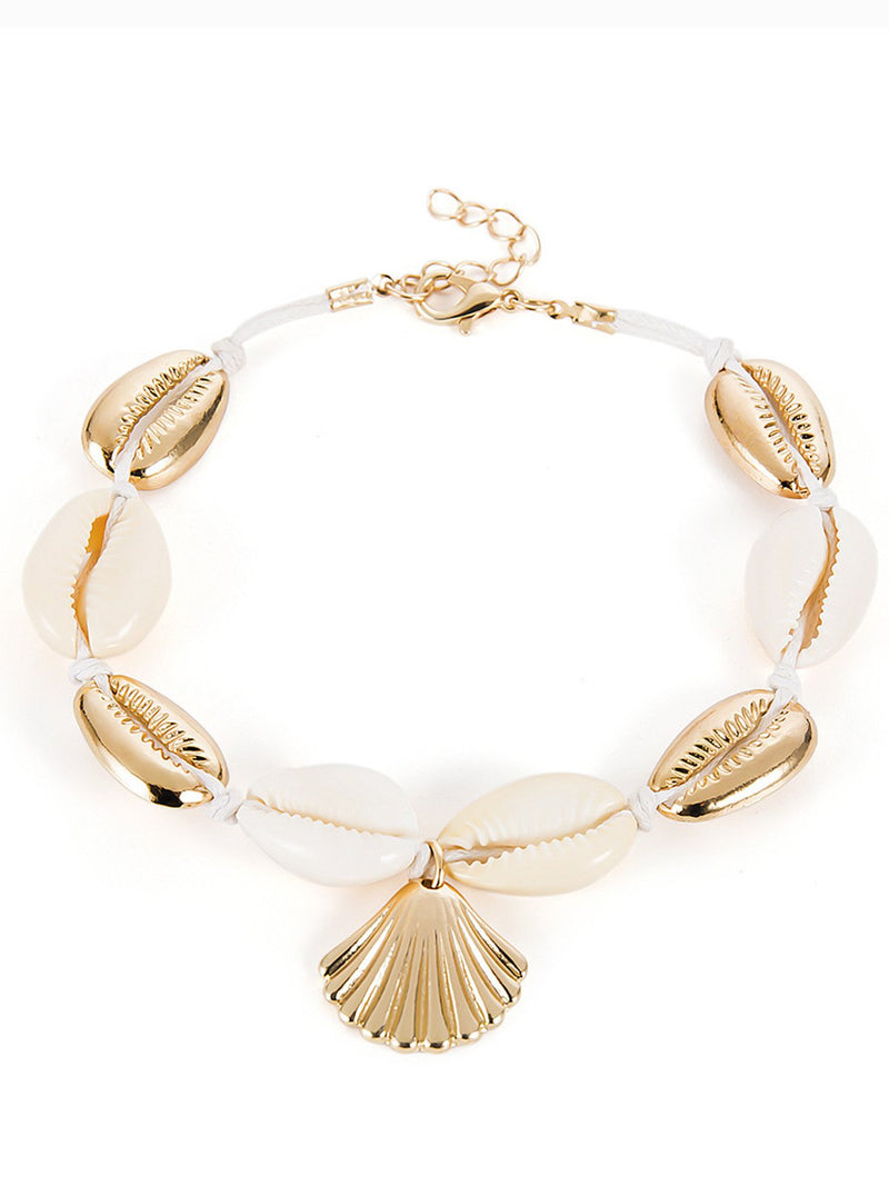 Women Shell Alloy Anklets