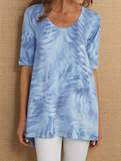 Abstract Printed Half Sleeve Shirts