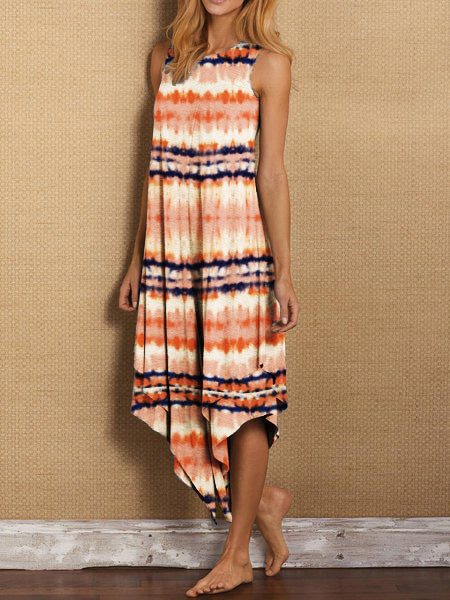 Printed Maxi Holiday Dress