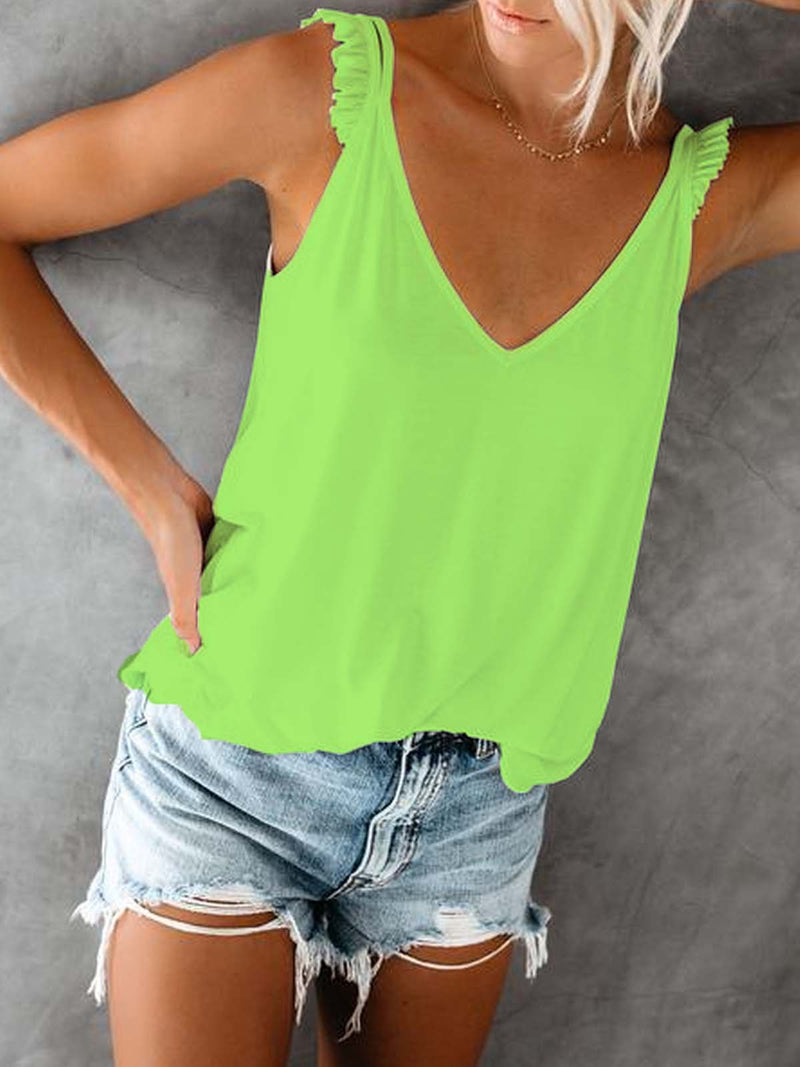 Cotton-Blend Sleeveless Shirts & Tops