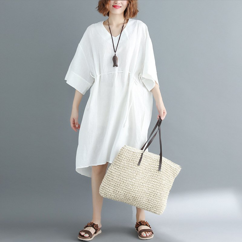 White Animal Cotton Sweet Dresses