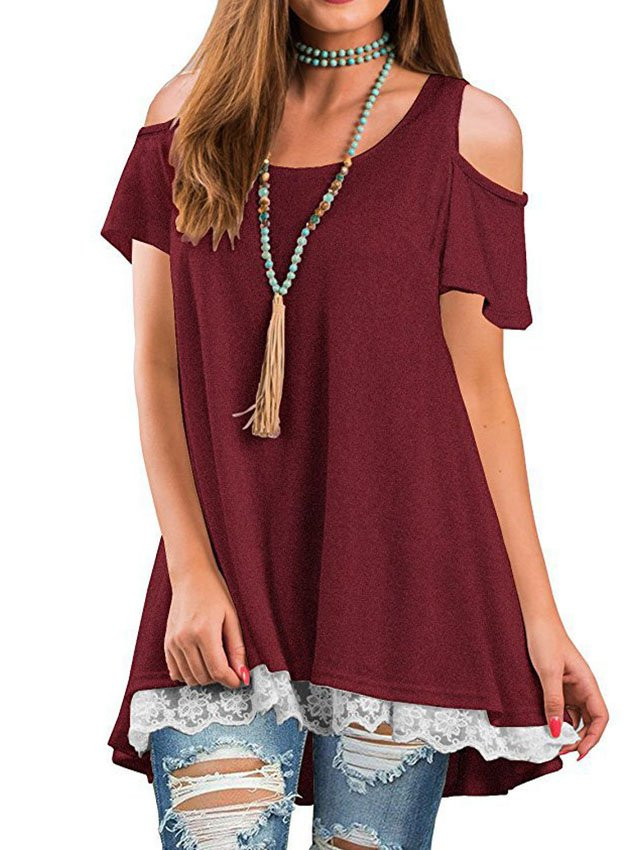 Solid Half Sleeve Casual Dresses