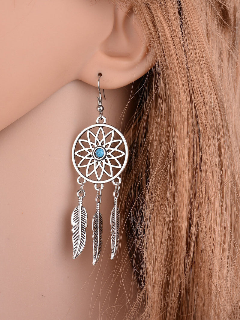 Womens Fashion Dream Catcher Earrings