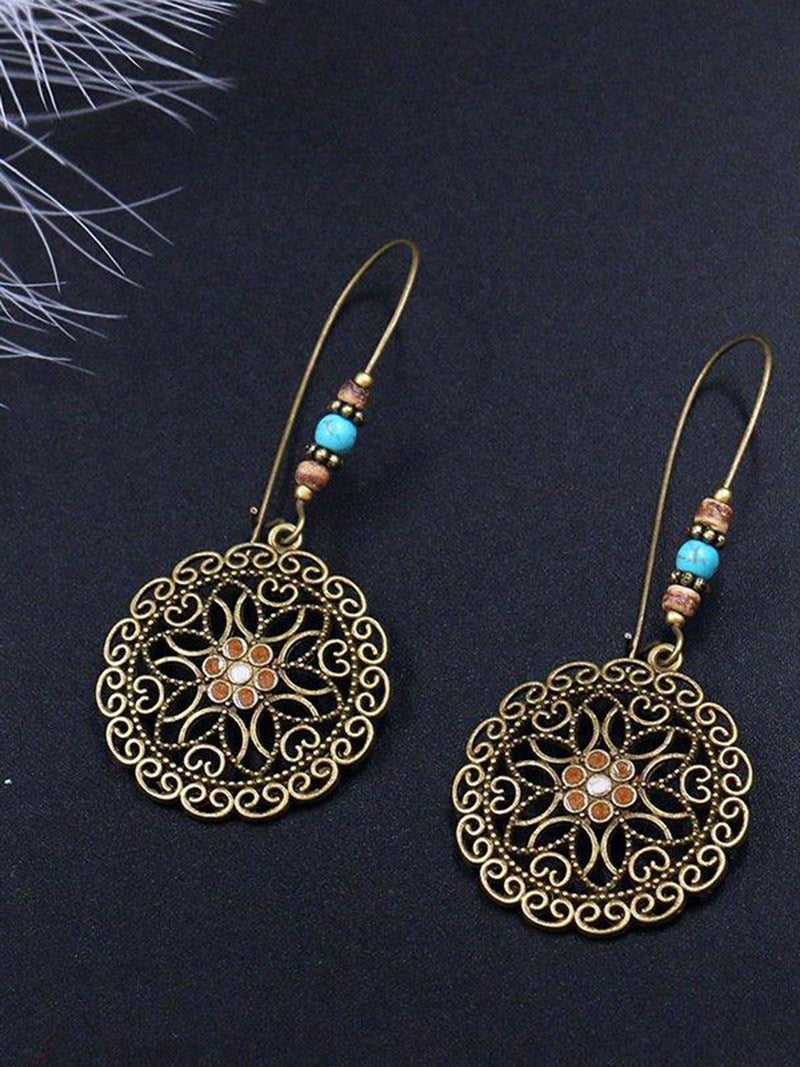 Vintage Fashion Hollow Flower Earring Dangle Earring Drop Earring