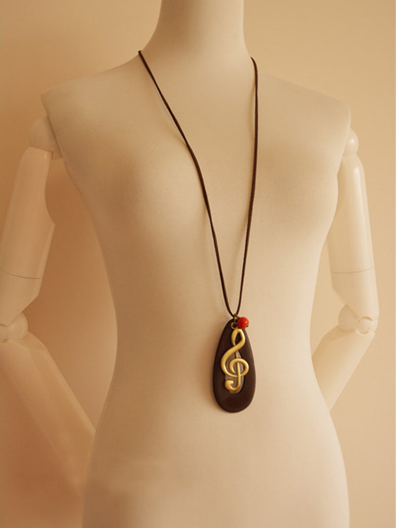 Vintage Metal Sweater Necklace