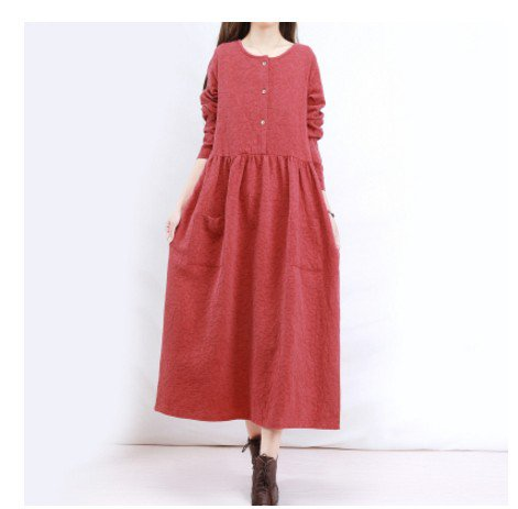 Half Sleeve Solid Square Neck Cotton Dresses