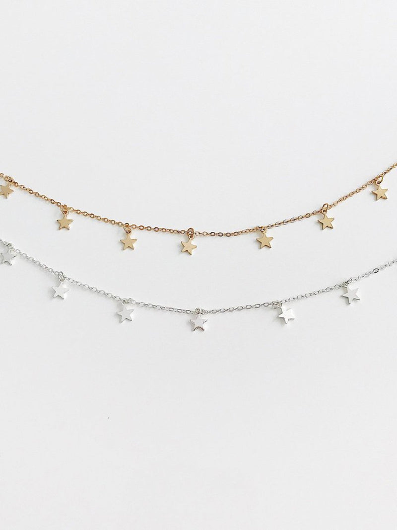 Women Alloy Star Necklaces