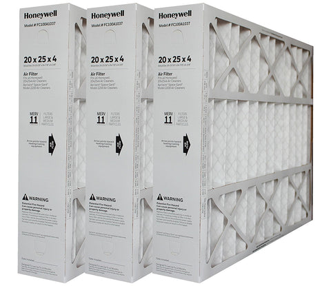 Honeywell 20x25x4 Electronic Air Cleaners Retrofit to 20x25 Media Air Cleaner. Part # FC100A1037. Package of 3.