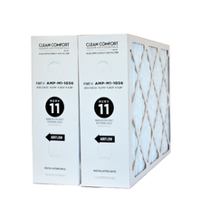 "Clean Comfort AMP-M1-1056 Furnace Filter MERV 11. Fits Clean Comfort, Goodman, Amana, SmartAir, Daikan, Reliance & Enercare Air Cleaners. Actual Size 15.375"" x 25.5"" x 5.25."" Case of 2"