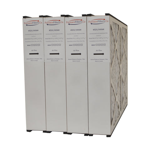 16x25x3 Furnace Filter MERV 8 Aftermarket GF 4521/X0581. Case of 4
