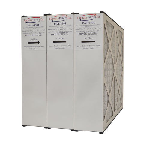 "ReservePro 4501 / 4551 20x25x5 MERV 11. Actual Size 19 5/8"" x 24 3/16"" x 4 15/16"" With Foam Strips.. Case of 3 Made by Furnace Filters.Ca"