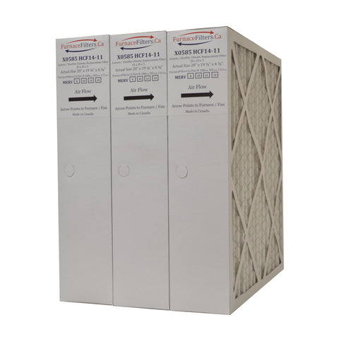 "Lennox X0585 Furnace Filter 20x20x5 Replacement MERV 8 for HCF14-11. Actual Size 20"" x 19 3/4"" x 4 3/8."" Case of 3"