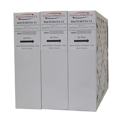 "Lennox X6670 Furnace Filter 16x25x5 MERV 8 For Model HCF16-11. Actual Size 15 3/4"" x 24 3/4"" x 4 3/8."" Case of 3"