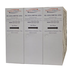 "M1-1056 MERV 10 Replacement Furnace Filter. Actual Size 15 3/8"" x 25 1/2"" x 5 1/4."" Case of 3"