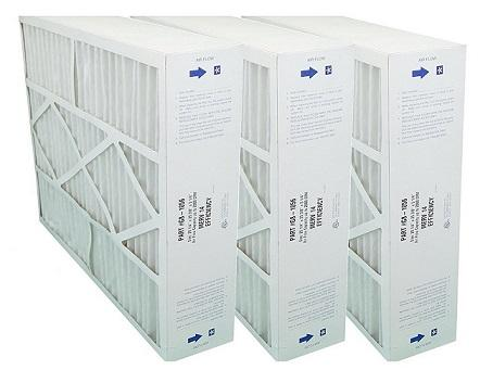 "G8-1056 Furnace Filter MERV 14. Actual Size 20 1/4"" x 25 3/8"" x 5 1/4"". Case of 3."