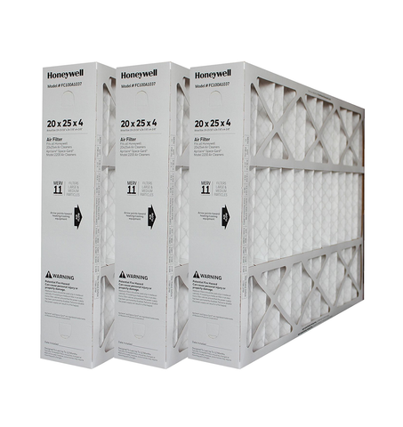 "Honeywell 20x25x4 Furnace Filter Model # FC100A1037 MERV 11. Actual Size 19 15/16"" x 24 7/8"" x 4 3/8"" Case of 3"
