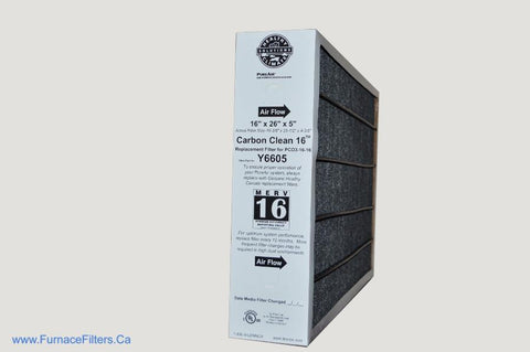 Lennox Y6605 Furnace Filter 16x26x5 Healthy Climate MERV 16 PureAir PCO3-16-16. Package of 1