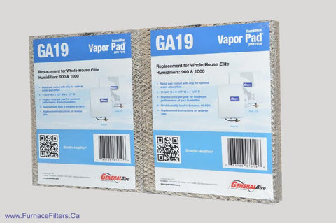 GA19 Generalaire Humidifier Vapor Pad for Model 900 & 1000 GFI # 7919 Package of 2