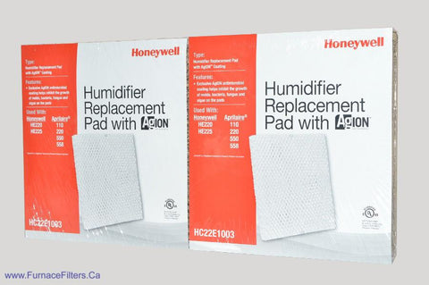 Honeywell HC22E-1003 Antimicrobial Humidifier Pad. Package of 2