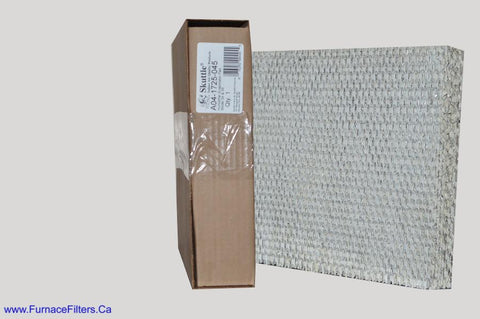 "Skuttle Evaporator PAD A04-1725-045. Actual Size 12 5/8"" x 10 7/8"" x 1 1/2"". Pkg. of 1."