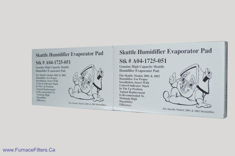 "Skuttle Evaporator PAD A04-1725-051. Actual Size 16 1/2"" x 10"" x 1 1/2"". Package of 2."