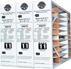 "Lennox X6670 MERV 11 16x25x5 Healthy Climate for HCF16-11 & HCC 16-28. Actual Size 15 3/4"" x 24 3/4"" x 4 3/8."" Case of 3"