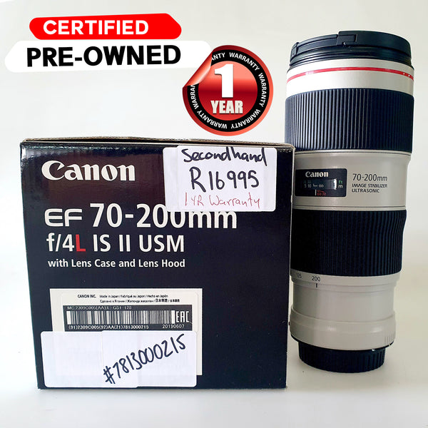 CANON EF 70-200mm f4 L IS II USM  Second Hand