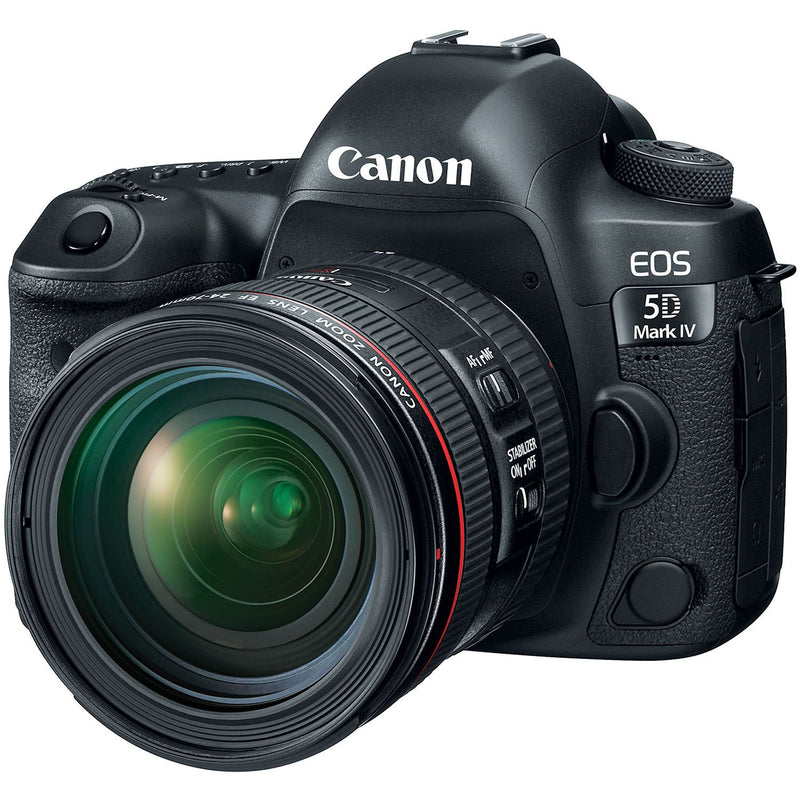 Canon EOS 5D Mark IV DSLR Camera Kit with 24-70mm f/4 L IS Lens - Cameratek