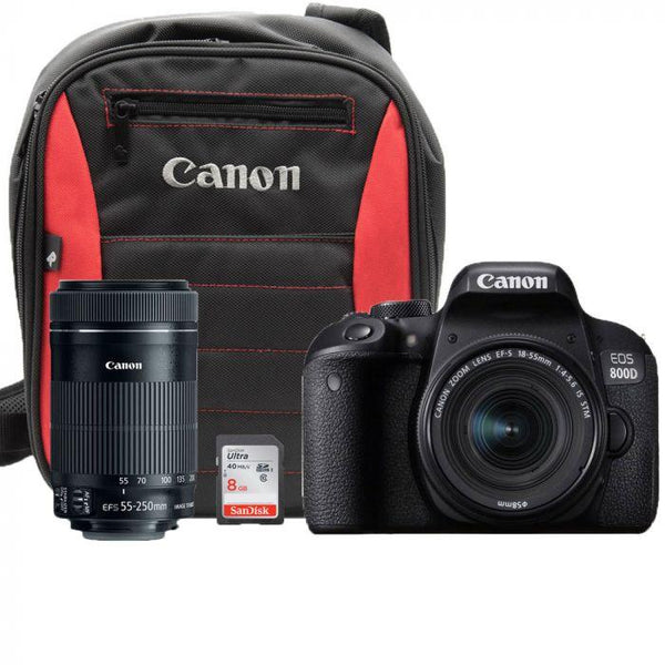 Canon EOS 800D DSLR Double Lens Kit - Cameratek