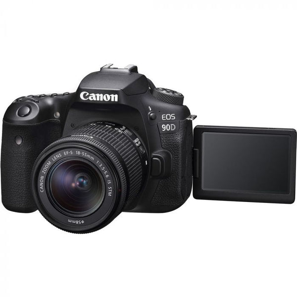 Canon EOS 90D DSLR Camera with 18-55mm f/3.5-5.6 IS STM Lens - Cameratek