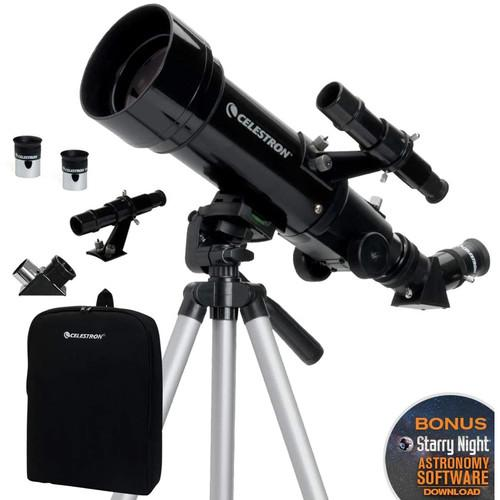 Celestron Travel Scope 70mm - f/5.7 AZ Refractor Telescope Kit  Cameratek