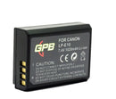 GPB Rechargeable battery for Canon LP-E10  Cameratek