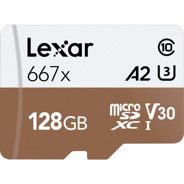 Lexar 128GB High-Speed 677x 100MB/s UHS-I microSDXC Memory Card with SD Adapter - Cameratek