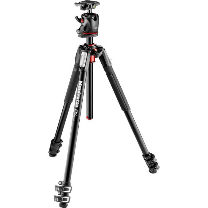 Manfrotto MK190XPRO3-BHQ2 190 Aluminum Tripod with Q2 Ball Head - Cameratek