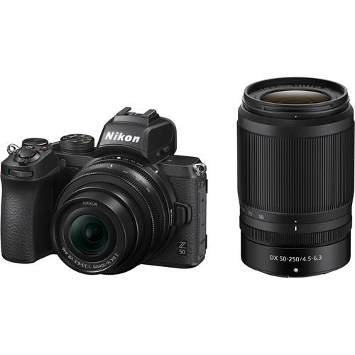 Nikon Z 50 Mirrorless Digital Camera with 16-50mm and 50-250mm Lenses - Cameratek