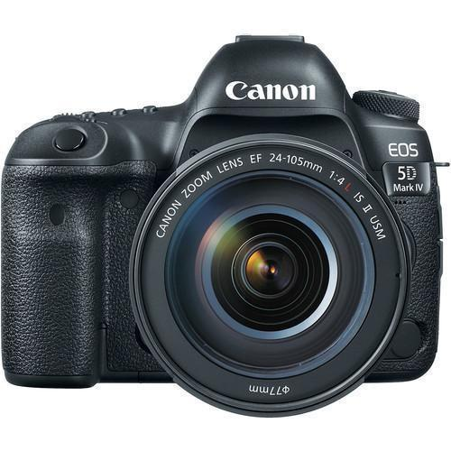 Canon EOS 5D Mark IV DSLR Camera with 24-105mm f/4L II Lens-Cameratek