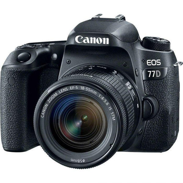 Canon EOS 77D DSLR with 18-55mm f/4-5.6 IS STM Lens-Cameratek
