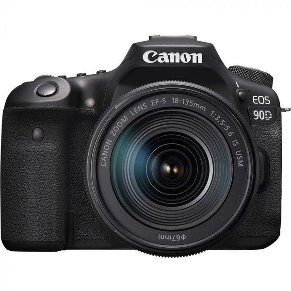 Canon EOS 90D DSLR Camera with 18-135mm f/3.5-5.6 IS USM Lens-Cameratek