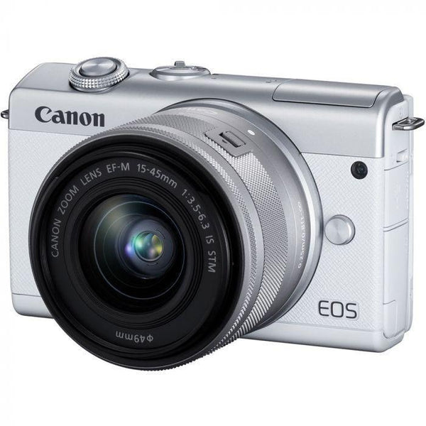 Canon EOS M200 Mirrorless Camera with 15-45mm IS STM Lens (White)  Cameratek