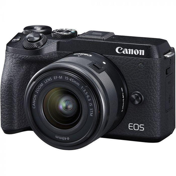 Canon EOS M6 Mark II Mirrorless Digital Camera with 15-45mm Lens and EVF-DC2 Viewfinder  Cameratek