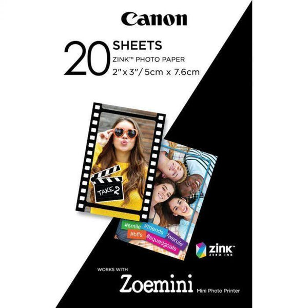 Canon ZoeMini Zink Photo Paper (20 Pack)-Cameratek